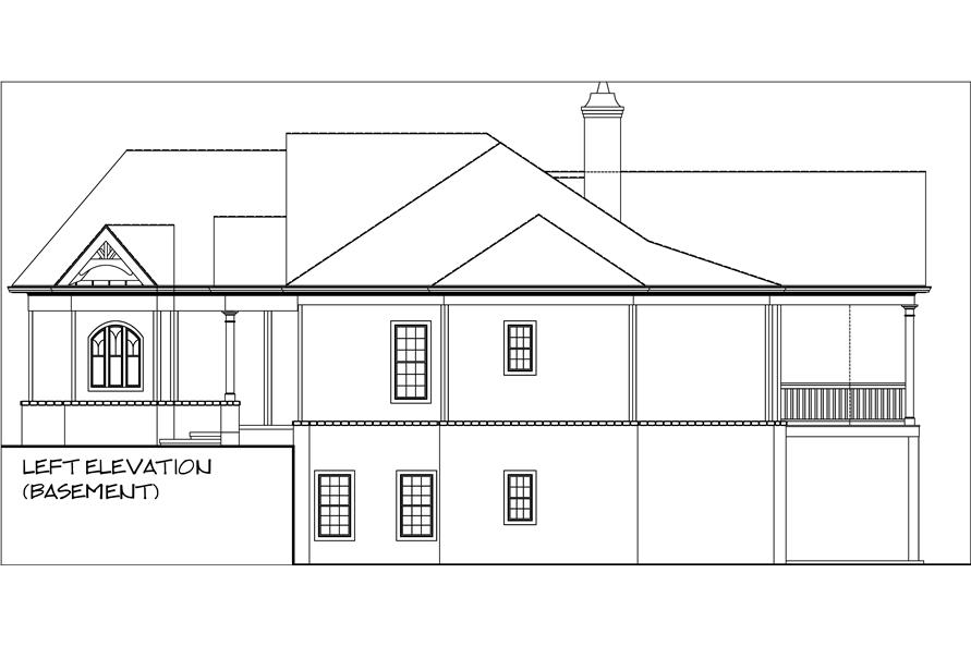 Home Plan Right Elevation of this 3-Bedroom,2344 Sq Ft Plan -106-1276