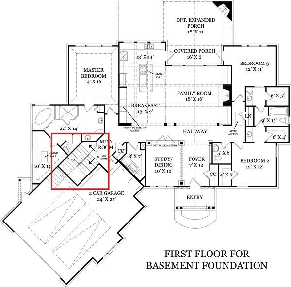 106-1276: Floor Plan Basement