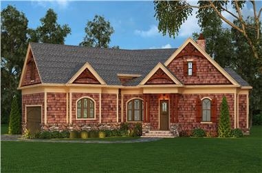 3-Bedroom, 2344 Sq Ft Craftsman Home Plan - 106-1276 - Main Exterior