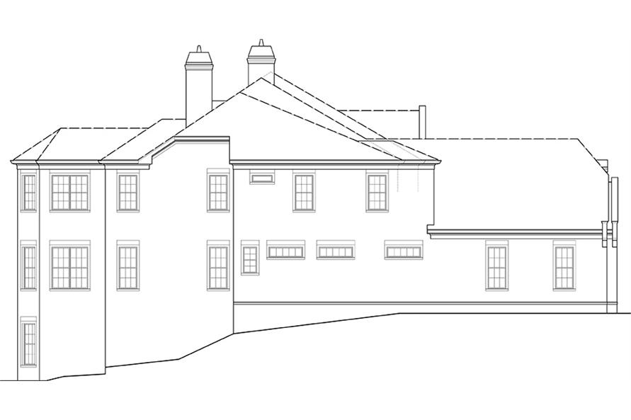 Home Plan Left Elevation of this 6-Bedroom,6072 Sq Ft Plan -106-1277