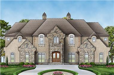 6-Bedroom, 6072 Sq Ft French House Plan - 106-1277 - Front Exterior