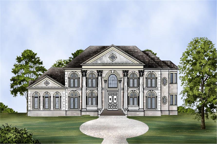Home Plan Rendering of this 5-Bedroom,5699 Sq Ft Plan -5699