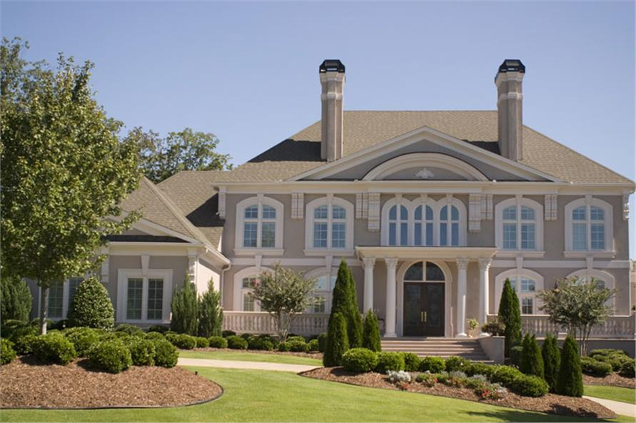 5-Bedroom, 5699 Sq Ft Colonial Home Plan - 106-1278 - Main Exterior