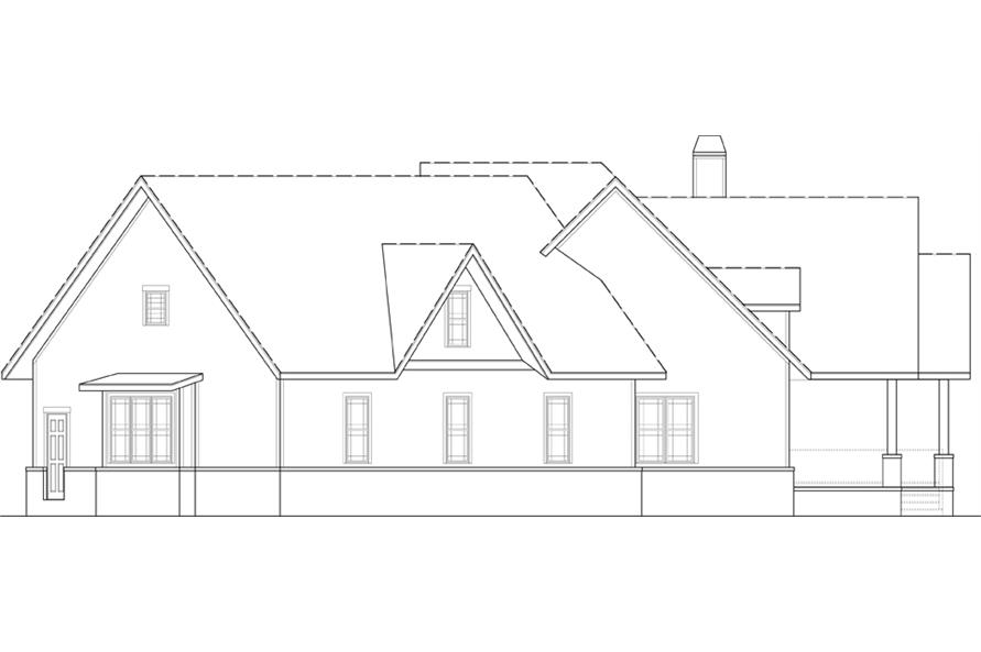 Home Plan Right Elevation of this 3-Bedroom,2666 Sq Ft Plan -106-1279
