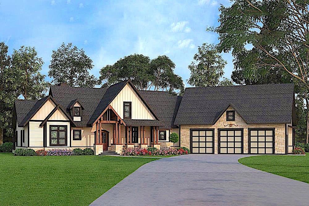 Texas Style home (ThePlanCollection: Plan #106-1279)