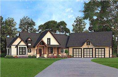 3-Bedroom, 2666 Sq Ft Texas Style Home - Plan #106-1279 - Main Exterior