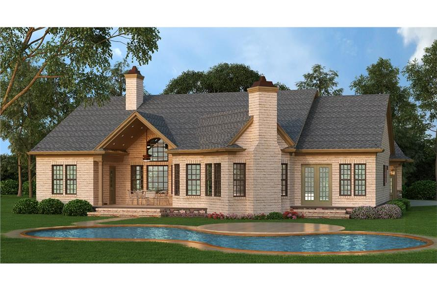 Home Plan Rendering of this 3-Bedroom,2430 Sq Ft Plan -106-1281