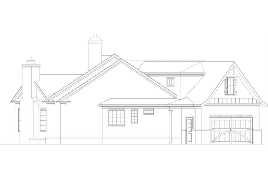 Home Plan Left Elevation of this 3-Bedroom,2430 Sq Ft Plan -106-1281