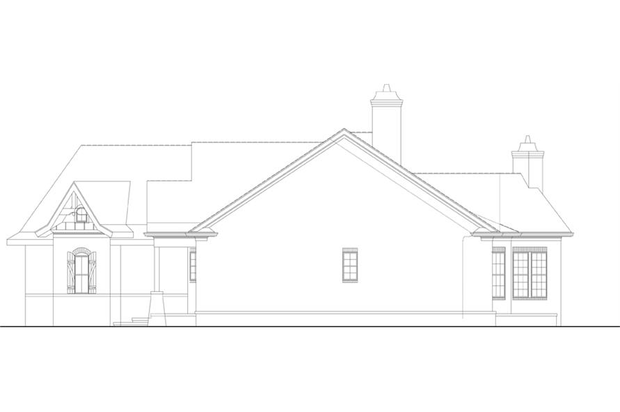 Home Plan Right Elevation of this 3-Bedroom,2430 Sq Ft Plan -106-1281