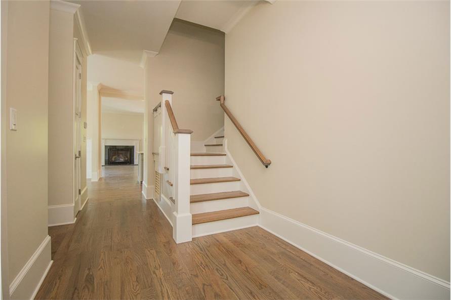 106-1282: Home Interior Photograph-Entry Hall: Staircase