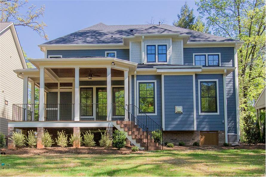 106-1282: Home Exterior Photograph-Rear View