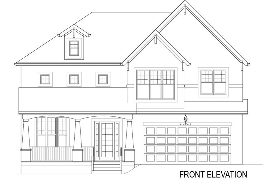 106-1282: Home Plan Front Elevation