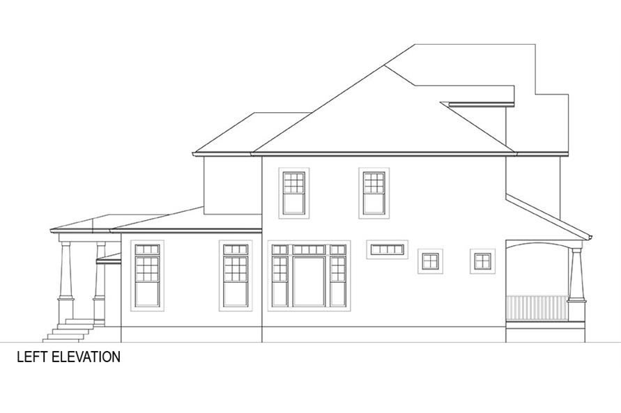 106-1282: Home Plan Left Elevation