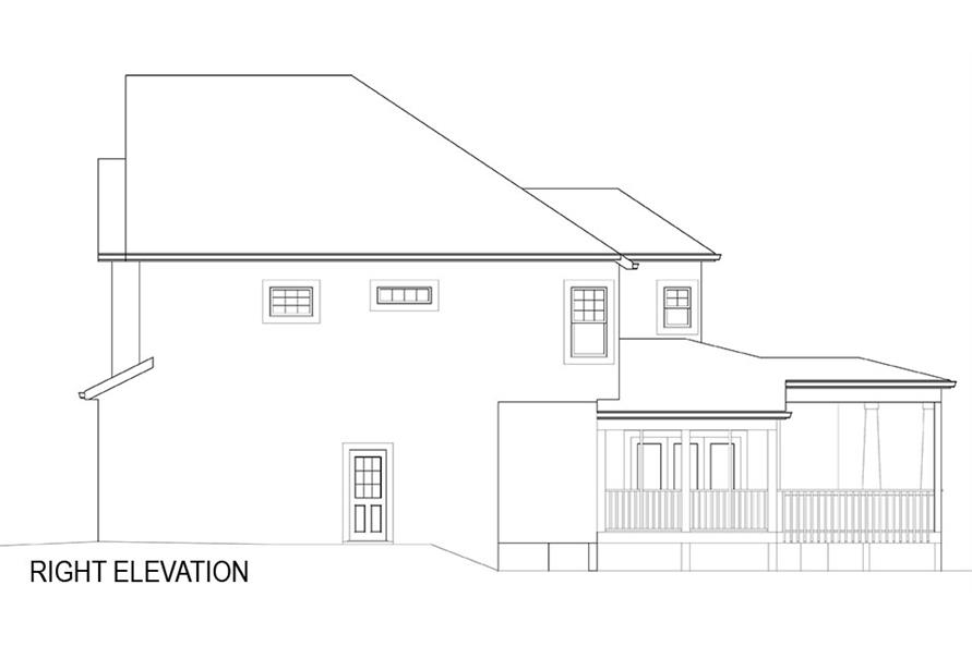 106-1282: Home Plan Right Elevation