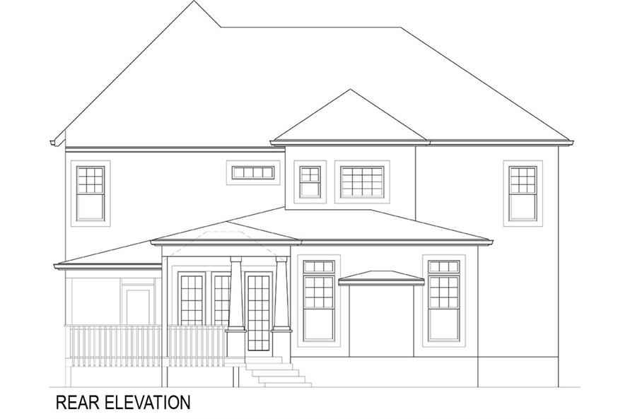 106-1282: Home Plan Rear Elevation