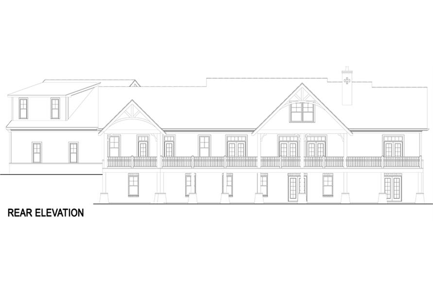 Home Plan Rear Elevation of this 3-Bedroom,2531 Sq Ft Plan -106-1283