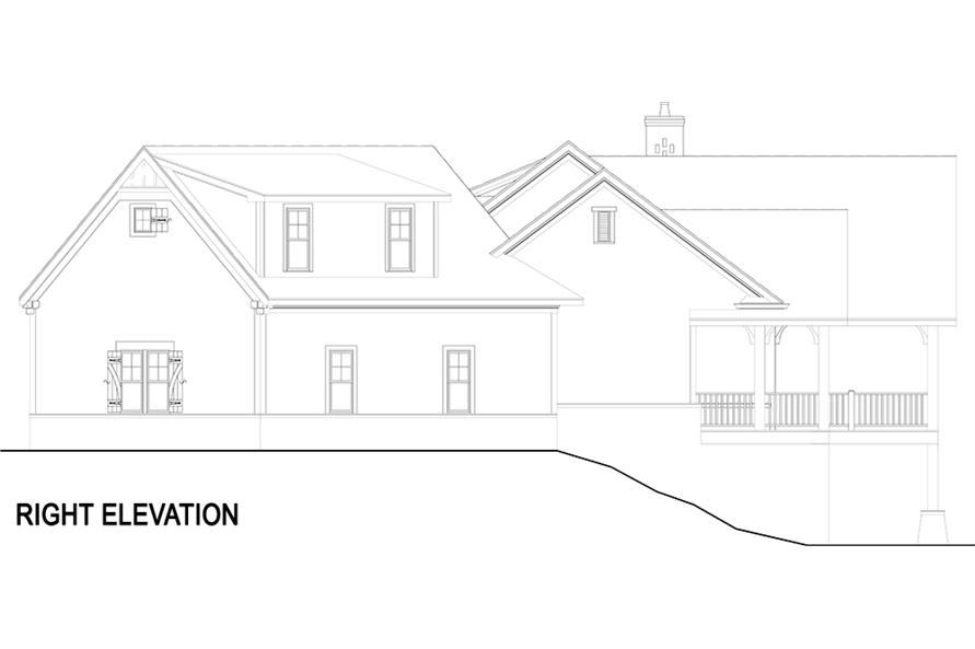 Home Plan Right Elevation of this 3-Bedroom,2531 Sq Ft Plan -106-1283