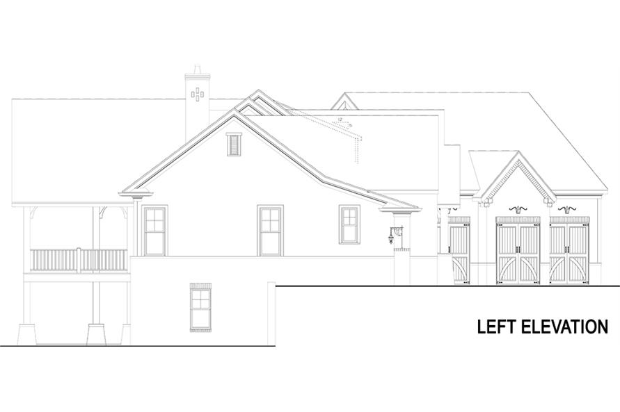 Home Plan Left Elevation of this 3-Bedroom,2531 Sq Ft Plan -106-1283