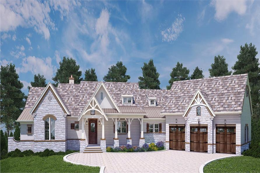 Front elevation of Country home (ThePlanCollection: House Plan #106-1283)