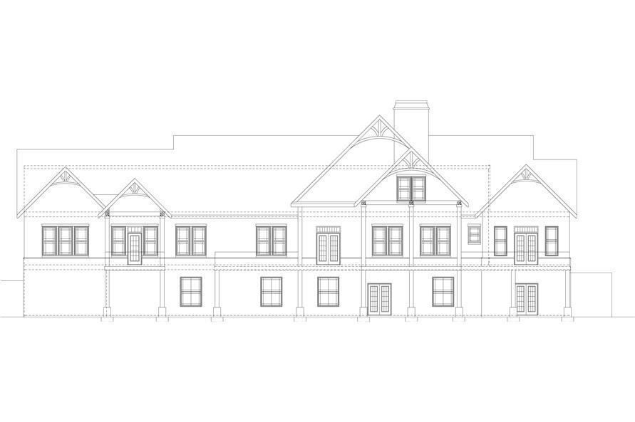 106-1284: Home Plan Rear Elevation