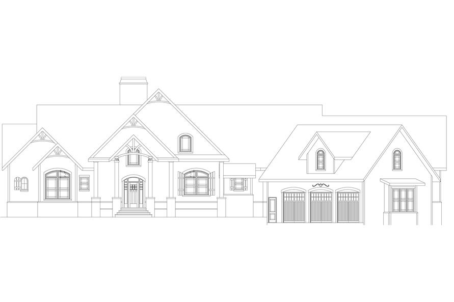 106-1284: Home Plan Front Elevation