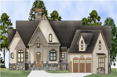 Front elevation of Country home (ThePlanCollection: House Plan #106-1284)