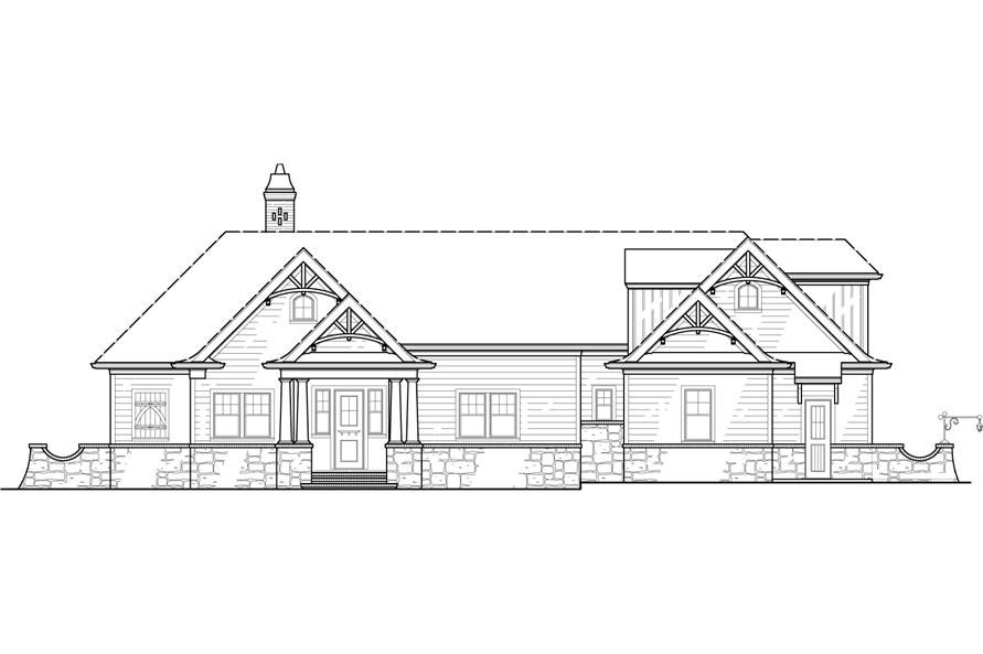 106-1285: Home Plan Front Elevation