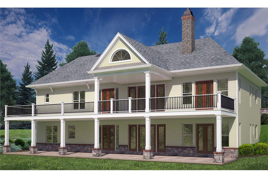 Home Plan Rendering of this 4-Bedroom,2355 Sq Ft Plan -2355