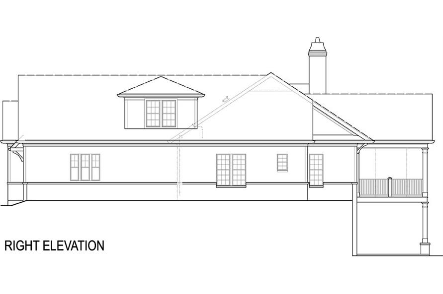 Home Plan Right Elevation of this 4-Bedroom,2355 Sq Ft Plan -106-1285
