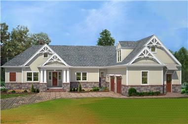 4-Bedroom, 2355 Sq Ft Country Home  - Plan #106-1285 - Main Exterior