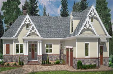 Front elevation of Country home (ThePlanCollection: House Plan #106-1285)
