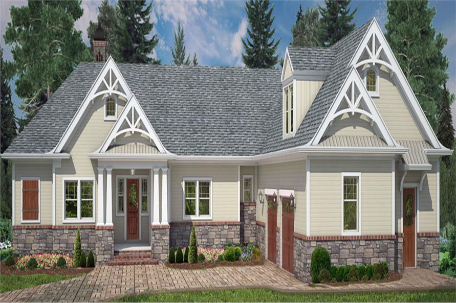 4-Bedroom, 2355 Sq Ft Country Home Plan - 106-1285 - Main Exterior