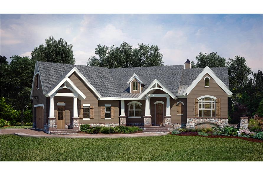 Home Plan Rendering of this 3-Bedroom,2619 Sq Ft Plan -106-1286