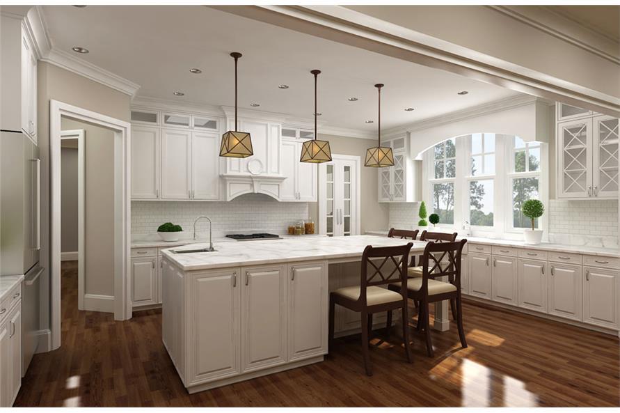 106-1286: Home Plan 3D Image-Kitchen