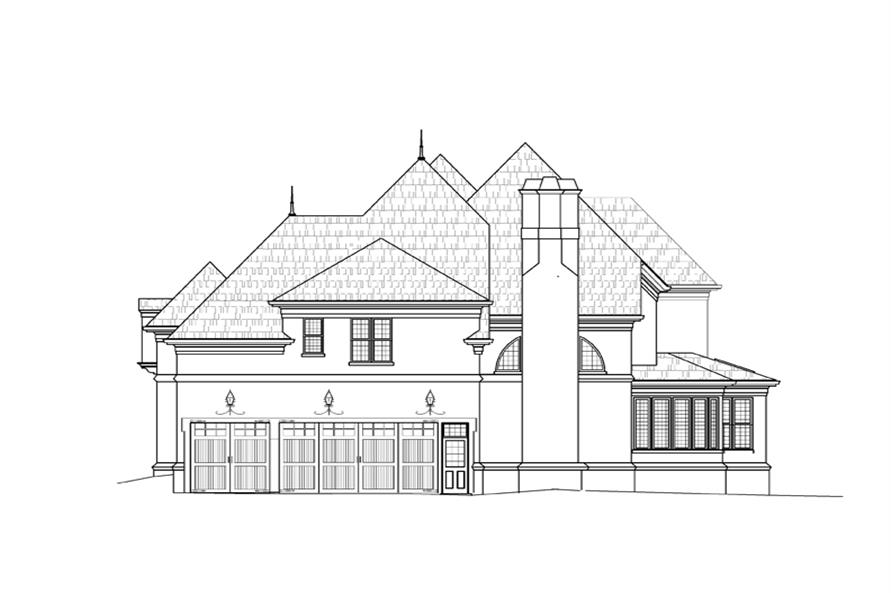 106-1287: Home Plan Right Elevation