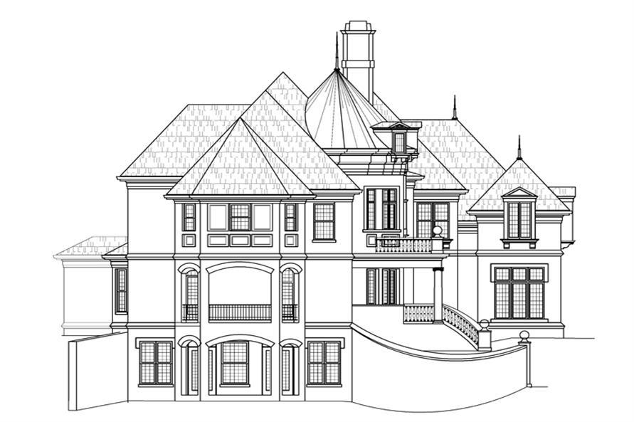 106-1287: Home Plan Left Elevation
