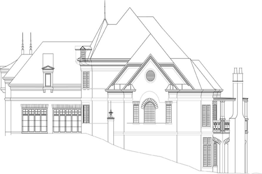 106-1288: Home Plan Right Elevation