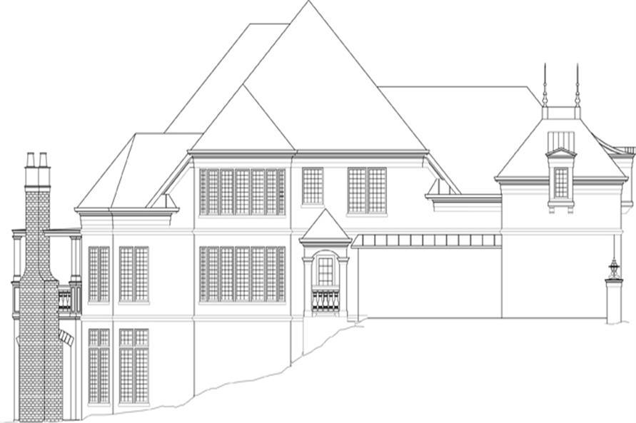 106-1288: Home Plan Left Elevation