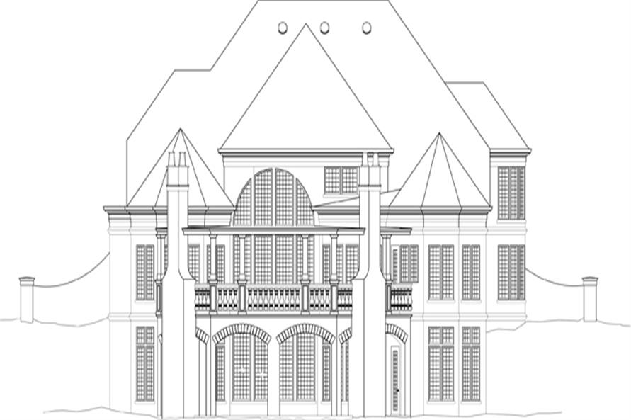 106-1288: Home Plan Rear Elevation