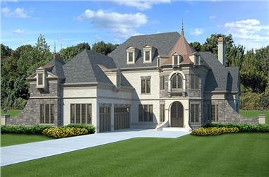 4-Bedroom, 3376 Sq Ft Luxury House Plan - 106-1288 - Front Exterior