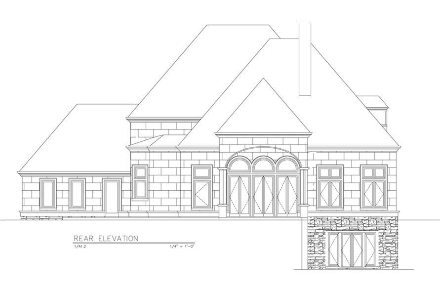 106-1289: Home Plan Rear Elevation