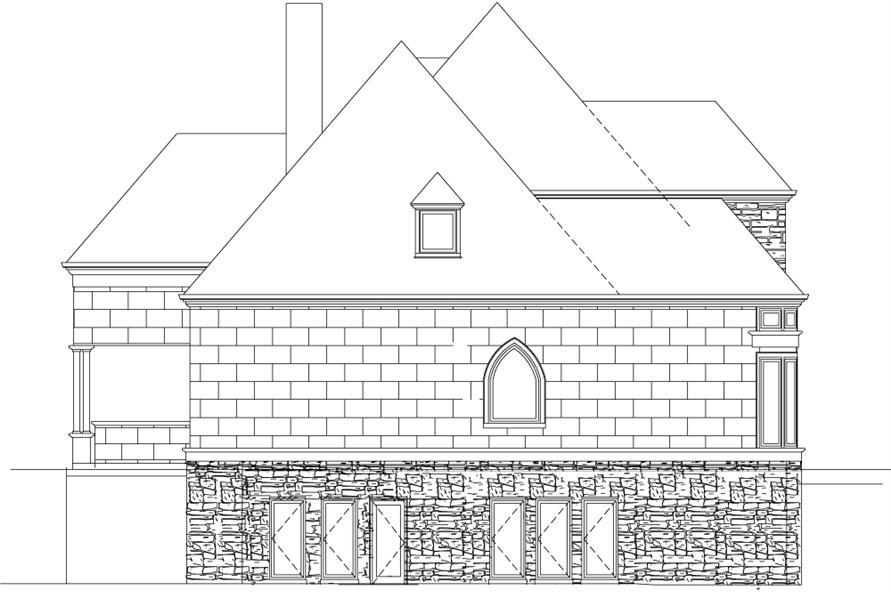 106-1289: Home Plan Left Elevation
