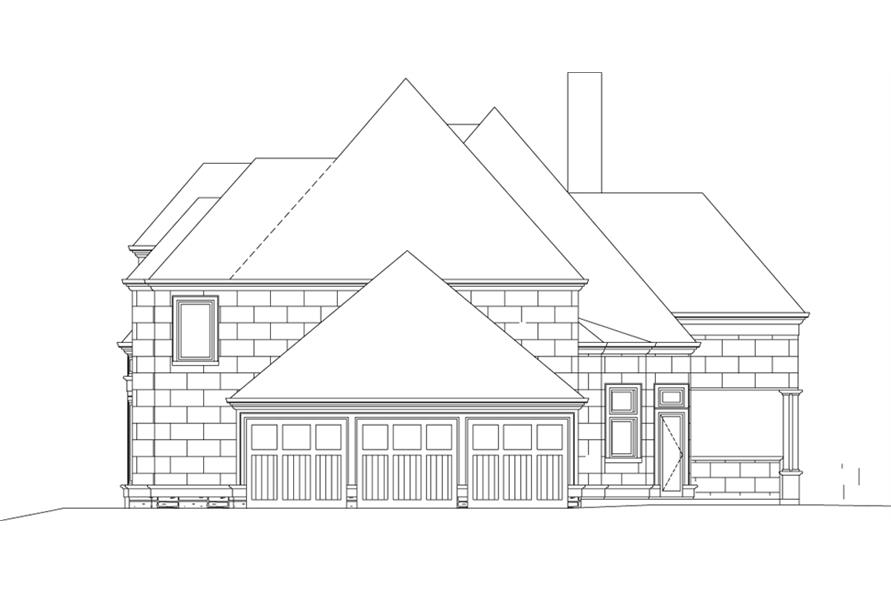 106-1289: Home Plan Right Elevation