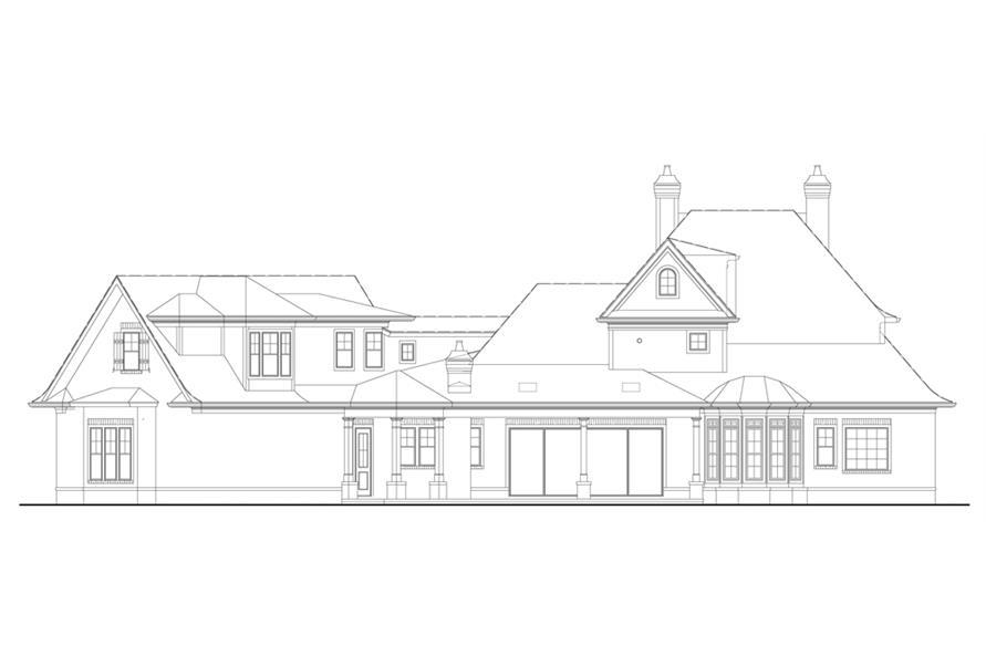106-1290: Home Plan Rear Elevation