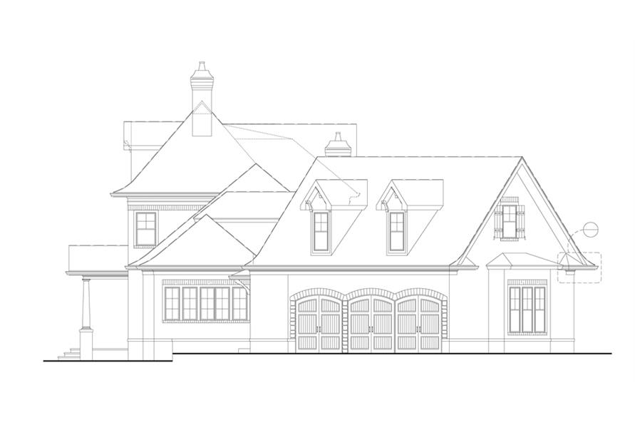 Home Plan Right Elevation of this 4-Bedroom,3041 Sq Ft Plan -106-1290