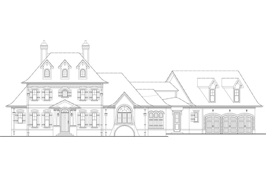 106-1290: Home Plan Front Elevation