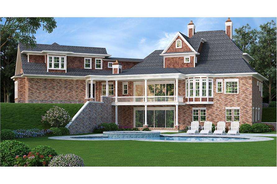 106-1290: Home Plan Rendering-Pool