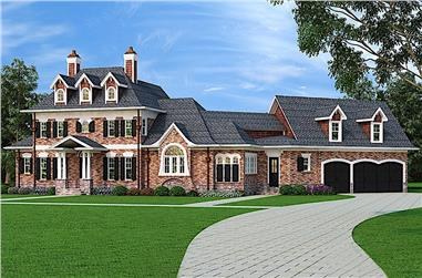 4-Bedroom, 3041 Sq Ft French Home - Plan #106-1290 - Main Exterior