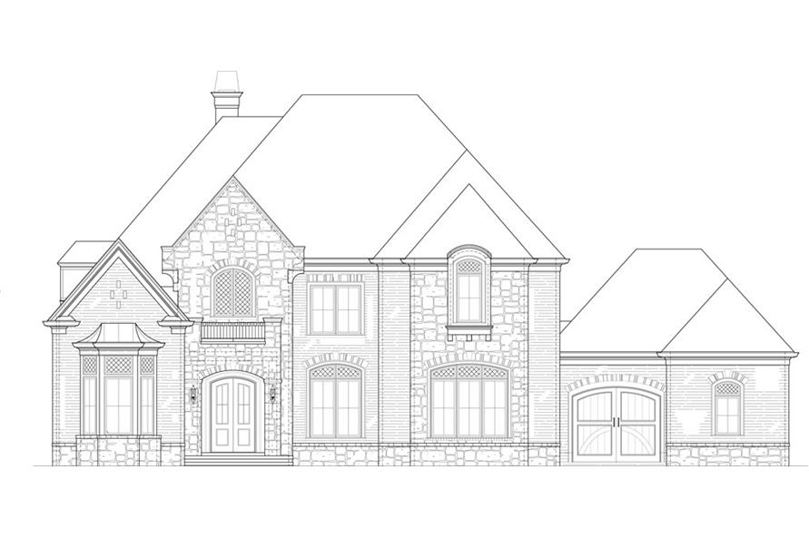 106-1291: Home Plan Front Elevation