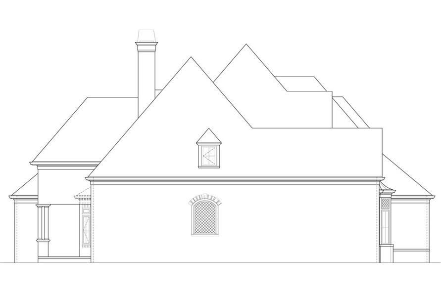 106-1291: Home Plan Left Elevation